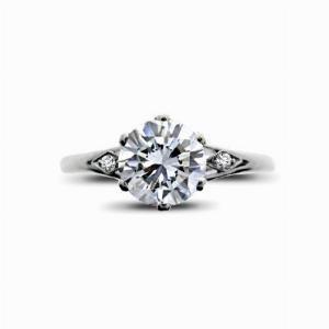 Brilliant Cut Vintage Engagement Ring 1.14ct F SI2 IGI